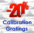 Calibration Gratings with 20% Discount